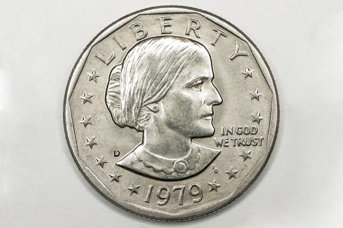 US Dollar Silver Coin Featuring Susan B Anthony