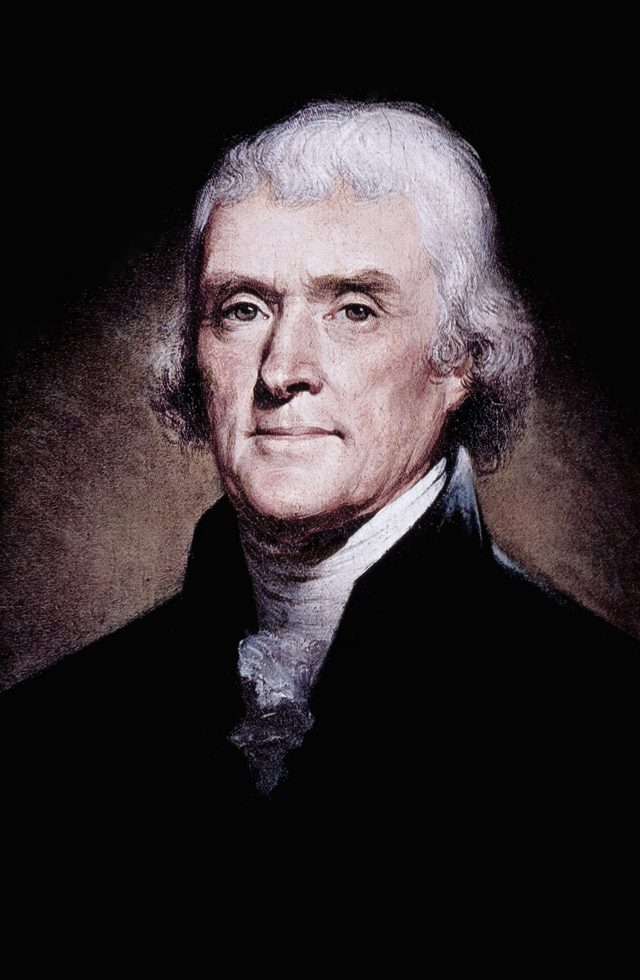 ARIOUS Thomas Jefferson (1743-1826), Third President of the United States, American Founding Father and Author of the Declaration of Independence, Portrait