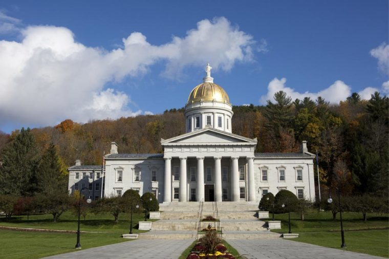Vermont State House capital building is located in Montpelier, VT, USA and is a public structure owned by the people of Vermont.