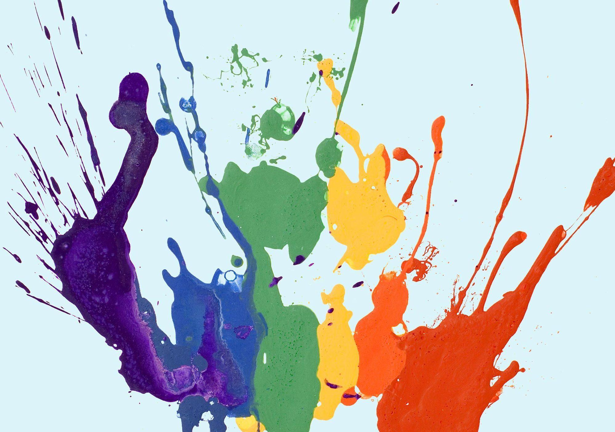 Paint splatter image