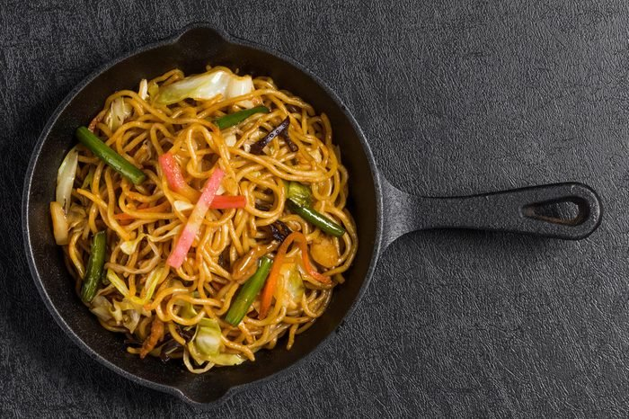 Chinese food fried noodles
