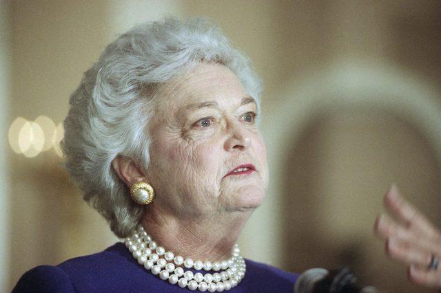 Barbara Bush, Washington, USA