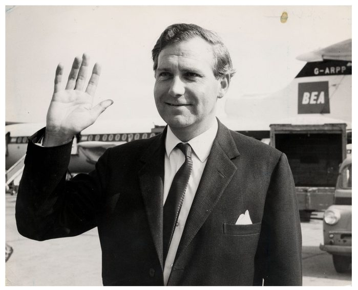 John Stonehouse Is Pictured At London Airport Before Leaving For Czechoslovakia Where He Was Spearheading A Government Drive To Sell British Aircraft To Iron Curtain Countries. Stonehouse Was A British Politician And Minister Under Harold Wilson Who