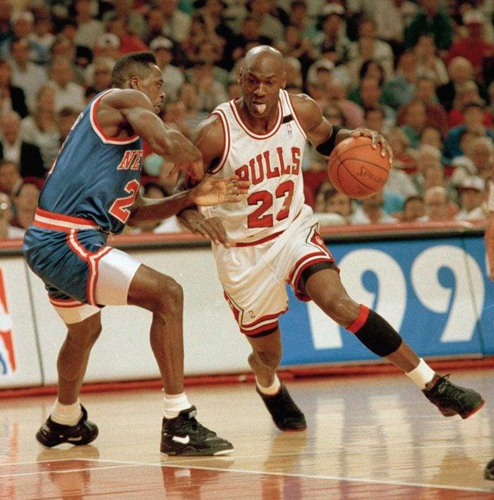 KNICKS BULLS PLAYOFF 1992, CHICAGO, USA