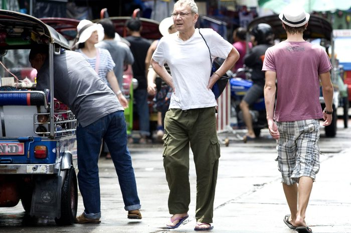 Stephen Kellaway Pictured In Bangkok Thailand. Stephen Faked His Own Death While Visiting Russia With His Wife Nelli - Then Fled To Thailand.