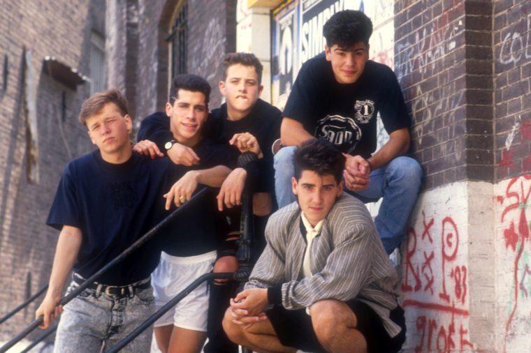 VARIOUS NEW KIDS ON THE BLOCK - Jordan Knight, JONATHAN KNIGHT, Joe McIntyre, DANNY WOOD, Donnie Wahlberg IN AMSTERDAM, HOLLAND - JUN 1989