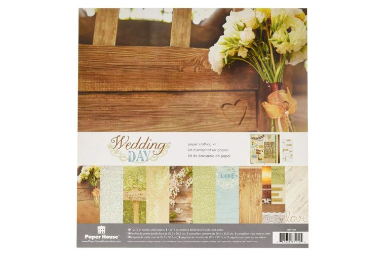 pack of wedding theme scrapbook paper