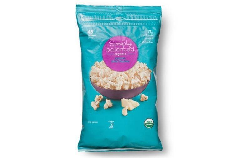 White Cheddar Organic Popcorn - 4.5oz - Simply Balanced™