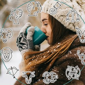 Portrait of young girl with coffee Winter Christmas New year time; Shutterstock ID 728850814; Job (TFH, TOH, RD, BNB, CWM, CM): TOH