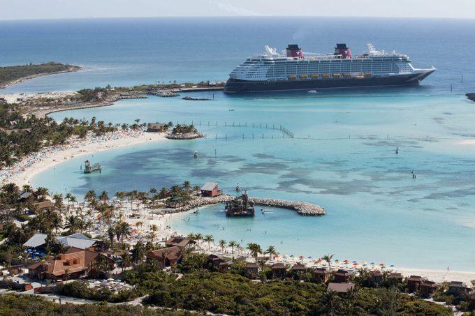 ship at castaway cay