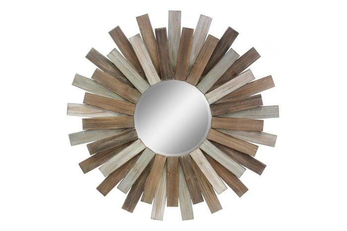 Wooden Sunburst Decorative Mirror