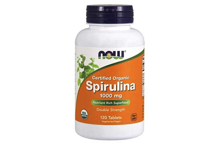 NOW Spirulina 1000 mg,120 Tablets
