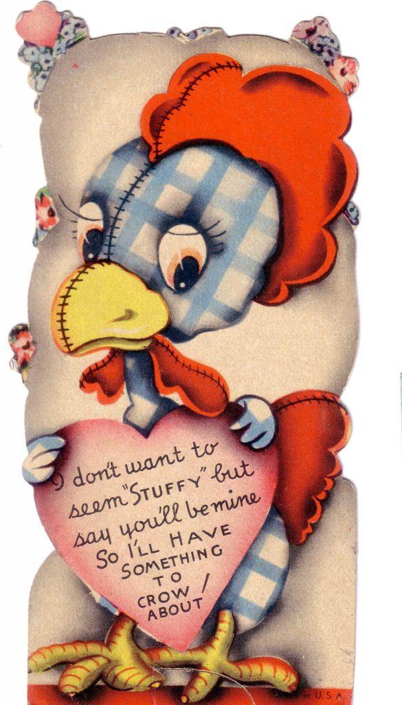 valentine rooster