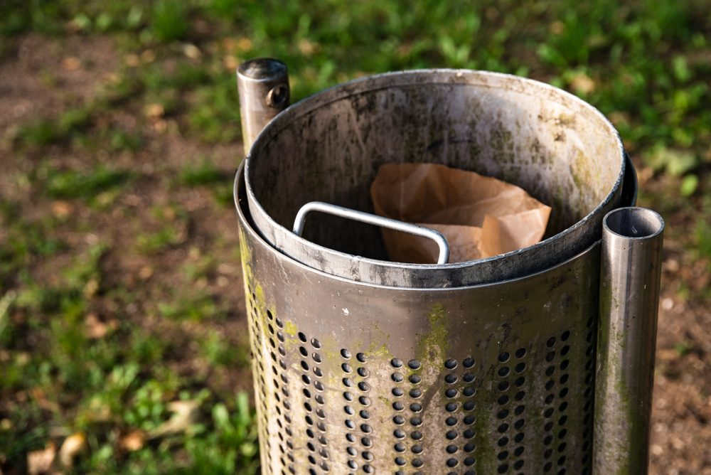 Garbage Can for clean parks in Linz Upper Austria