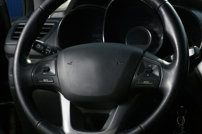 Interior view of car with salon