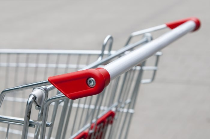 Handle from supermarket shopping cart