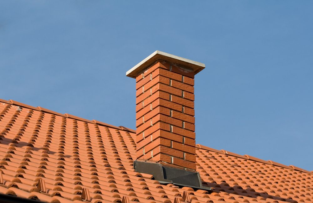 roof tiles with shallow depth of field