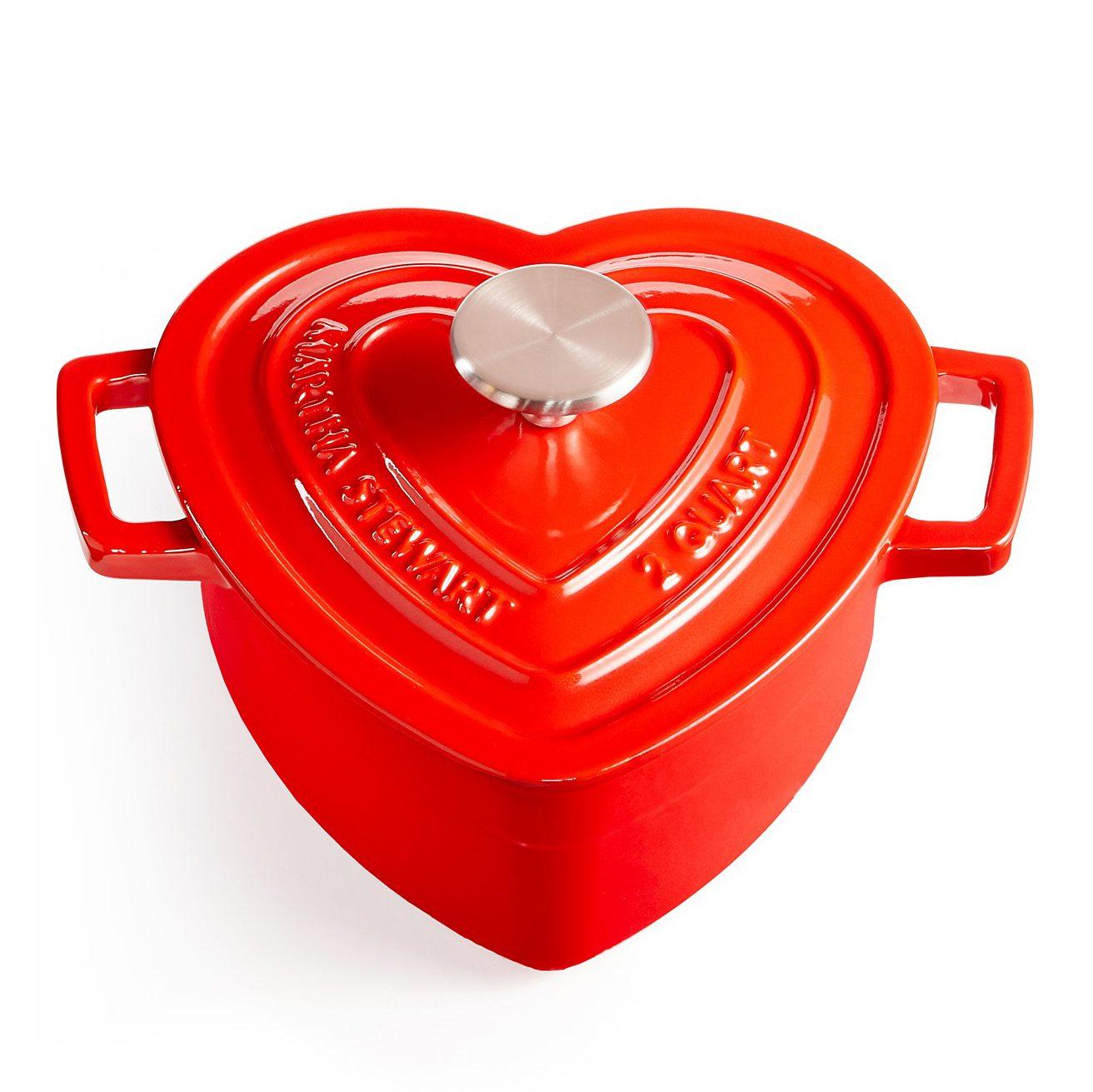 cast iron heart pot