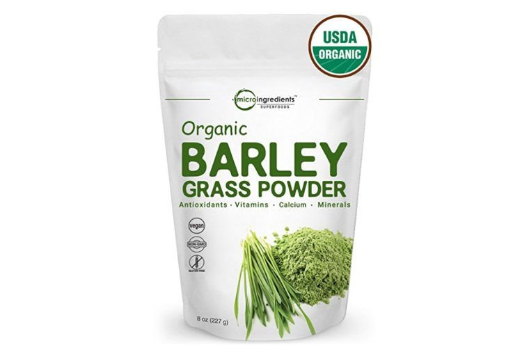 Sustainably US Grown, Organic Barley Grass Powder, 8 Ounce, Rich Fiber, Minerals, Antioxidants, Chlorophyll and Protein, Best Superfoods for Beverage and Smoothie, Non-GMO and Vegan Friendly