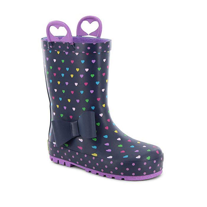 heart rainboots
