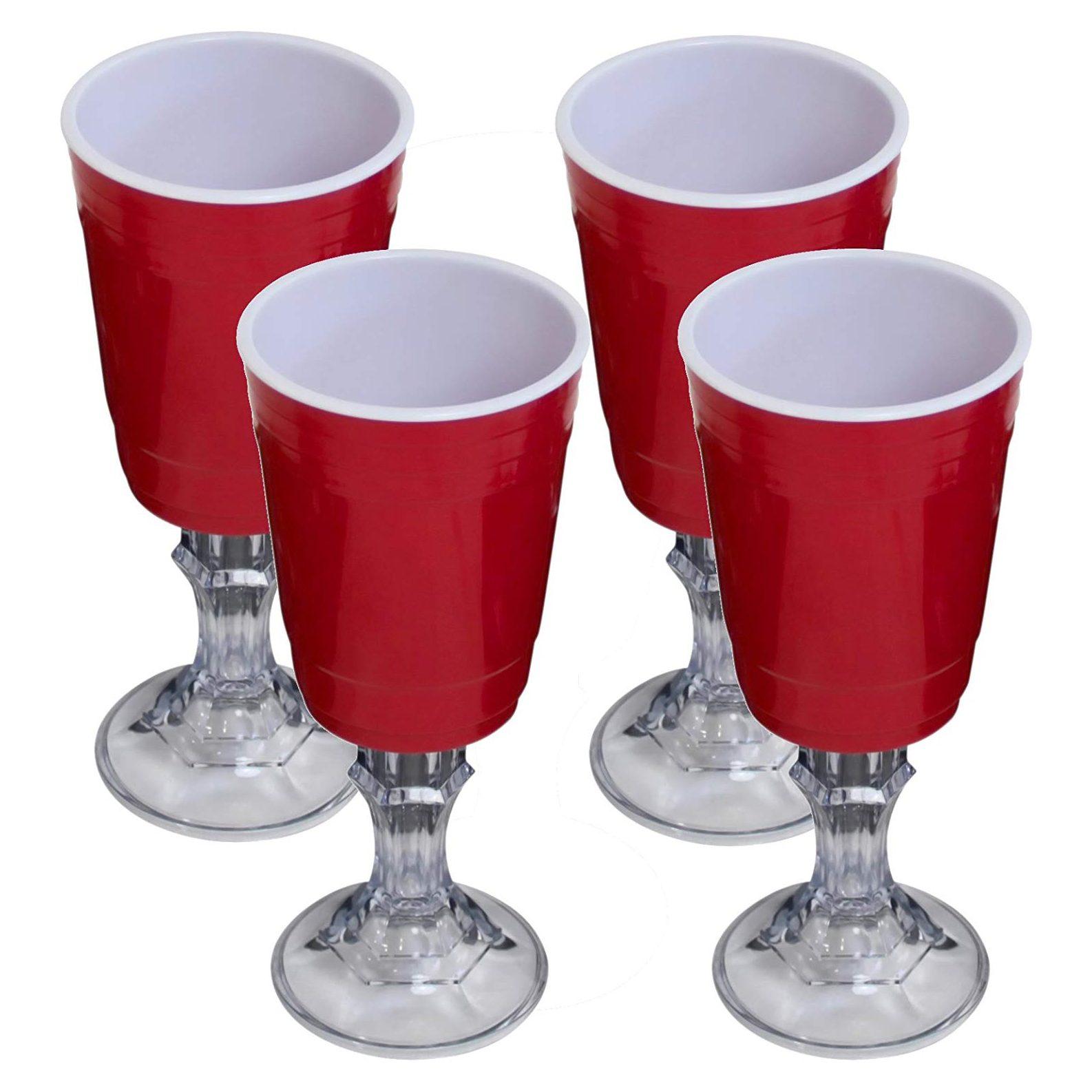 red solo wine glass
