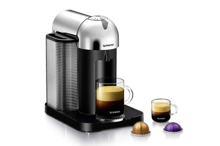 Nespresso Vertuo Coffee and Espresso Machine by Breville, Chrome