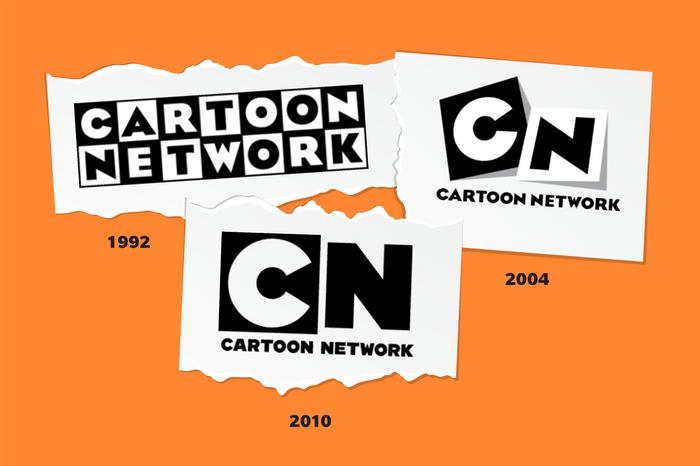 Images of Cartoon Network logos through time