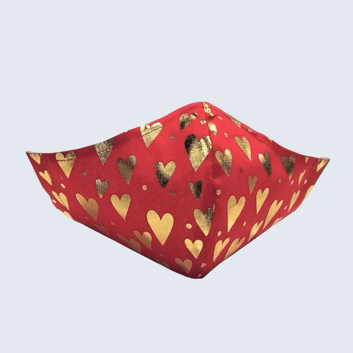 The gift of safety: Etsy Valentine's Day Fabric Face Mask