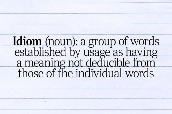 idiom definition text