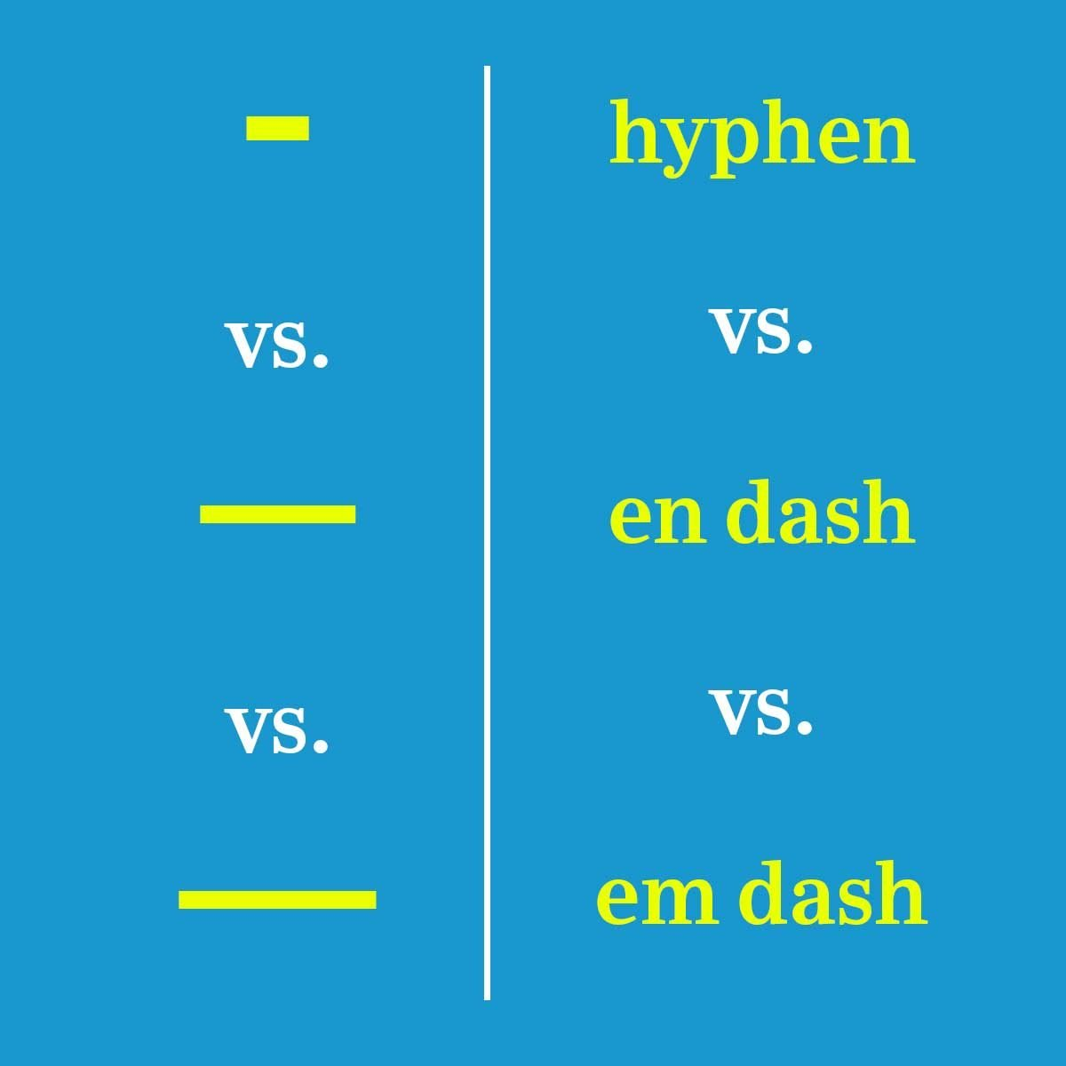 When to Use a Dash Versus a Hyphen | Reader's Digest
