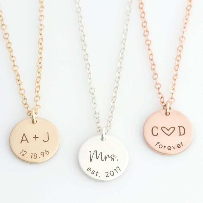 Personalized pendants: Etsy Anniversary Necklace