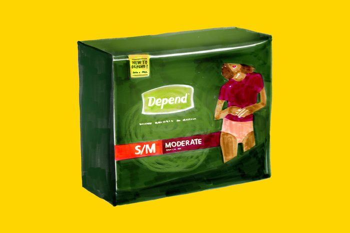 Depend incontinence product