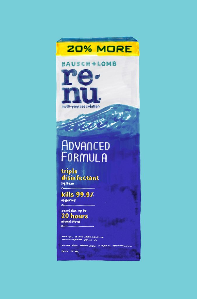 Re-nu Bausch + Lomb contact solution
