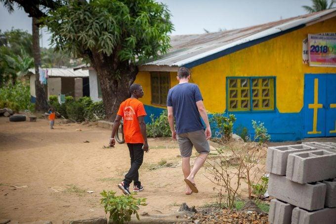 Man visits his friend in Liberia
