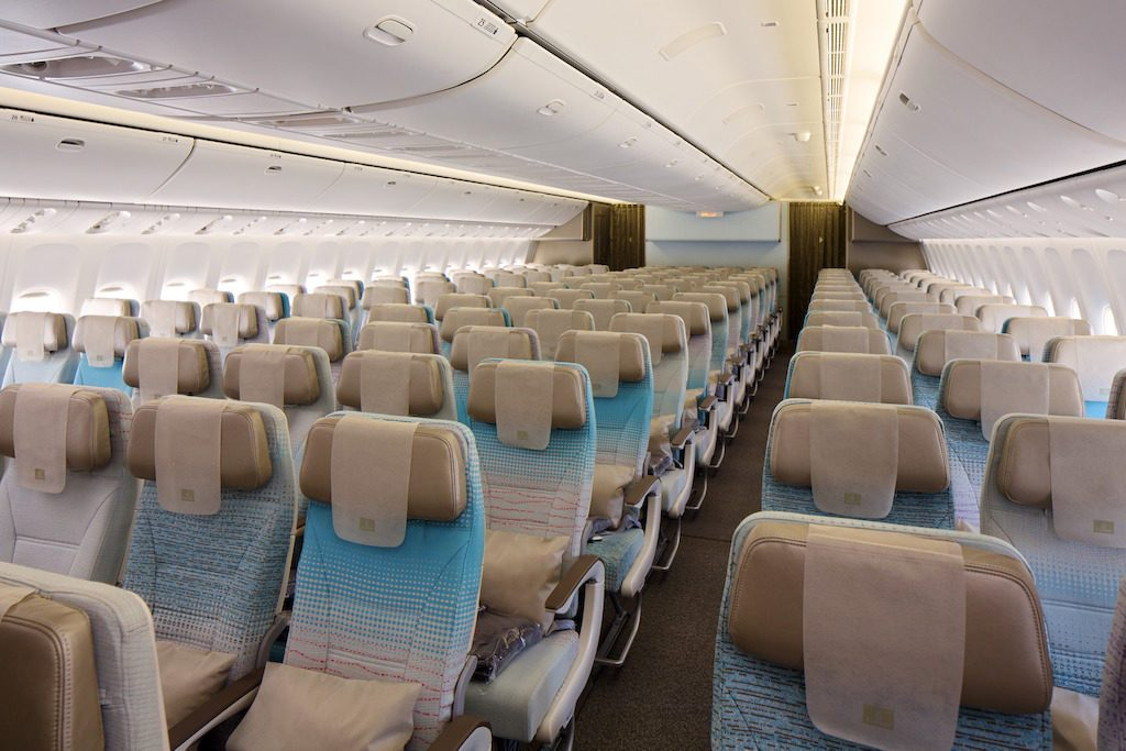 interior of plane emirates