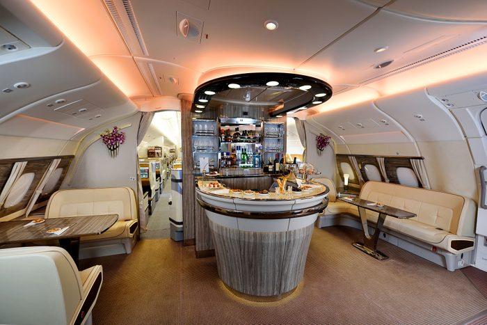 emirates lounge on plane