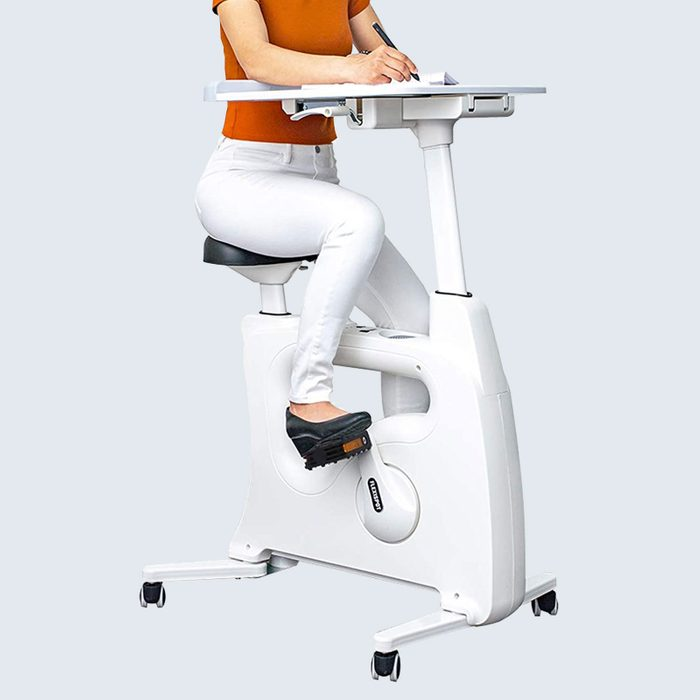 Exercise from Home: A Stationary Bike and Desk