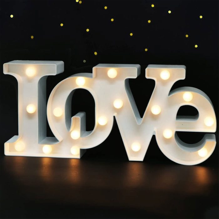Spell it out for her: Love LED Marquee