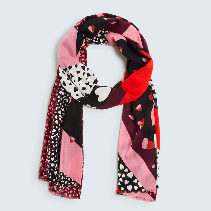 A cozy love reminder: Ann Taylor Heart Scarf