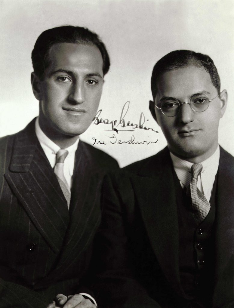 Art (Portraits) - various George GERSHWIN, 1898-1937, American jazz and popular music composer, and Ira Gershwin, 1896-1983, American lyricist, signed photograph. The brothers collaborated on Broadway musicals and film scores