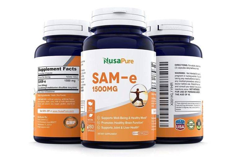 Best SAM-e 1500mg 180 Capsules (NON-GMO) - SAMe (S-Adenosyl Methionine) to Support Mood, Joint Health, and Brain Function - Extra Strength SAM e Pills - 500mg per caps - 100% MONEY...