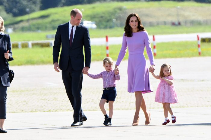 British royals visiting Germany, official departure from Germany at Airbus, Hamburg, Germany - 21 Jul 2017