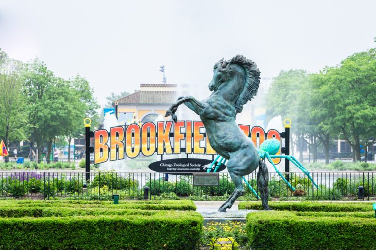 BROOKFIELD, IL - JUNE 10, 2018: Brookfield Zoo opened its doors in 1934 and currently houses around 450 animals.