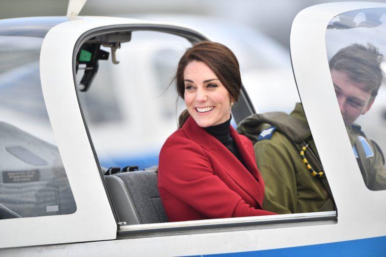 Catherine Duchess of Cambridge visit to RAF Wittering, Peterborough, Cambridgeshire, UK - 14 Feb 2017