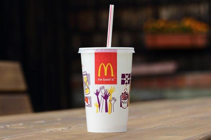 mcdonald's cup milkshake shake