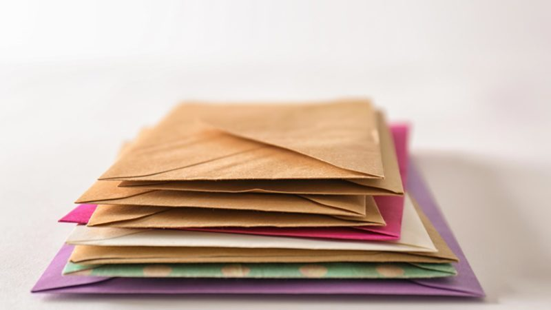stack envelopes mail