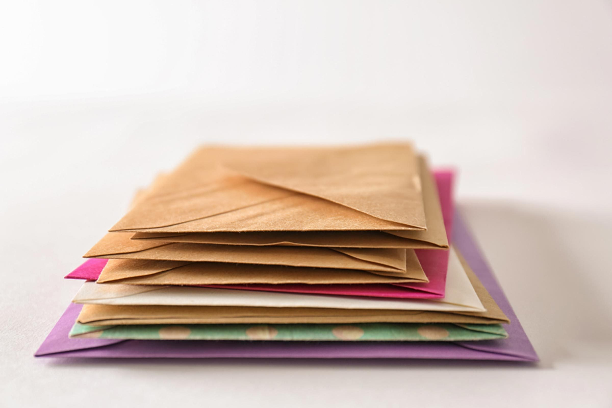 stack envelopes mail