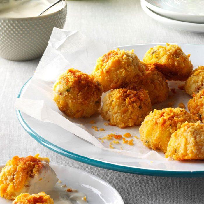 West Virginia: Bacon-Cheddar Potato Croquettes