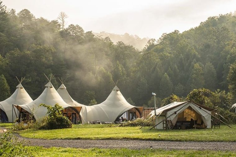 great smoky mountains glamping camping