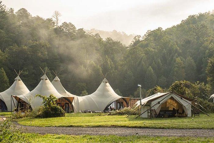 great smoky mountains glamping camping